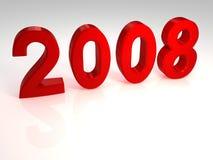 Nuovo anno rosso Fotografia Stock Libera da Diritti