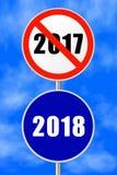 Nuovo anno rotondo 2018 del segno fotografia stock