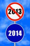 Nuovo anno rotondo del segno Immagini Stock