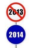Nuovo anno rotondo del segno Fotografia Stock