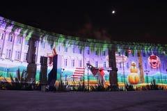 Nuovo anno a St Petersburg Immagine Stock