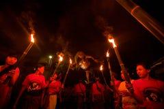 Nuovo anno su Bali Fotografie Stock Libere da Diritti
