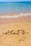Nuovo anno sulla spiaggia Immagini Stock Libere da Diritti