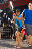 Nuovo anno tailandese - festival dell'acqua Fotografia Stock