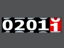 Nuovo anno venente fotografia stock libera da diritti