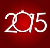 Nuovo anno 2015 Vettore della priorità bassa di natale Fotografia Stock Libera da Diritti