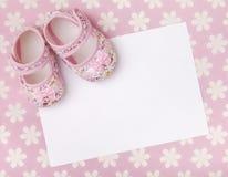 Nuovo annuncio del bambino Fotografia Stock Libera da Diritti