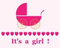 Nuovo annuncio della neonata Immagine Stock Libera da Diritti