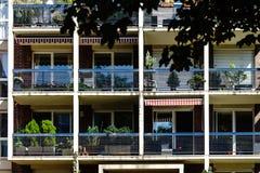 Nuovo appartamento moderno con il balcone, Strasburgo Immagine Stock