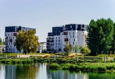 Nuovo appartamento moderno con il balcone, Strasburgo Fotografia Stock Libera da Diritti