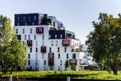 Nuovo appartamento moderno con il balcone, Strasburgo Fotografie Stock
