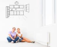 Nuovo appartamento vuoto immagini stock