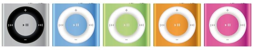Nuovo Apple iPod Shuffle multicolore Fotografie Stock