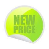 Nuovo autoadesivo di prezzi Immagine Stock