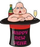 Nuovo bambino brutto del `s di anno Royalty Illustrazione gratis