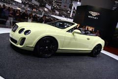 Nuovo Bentley Supersports continentale Fotografie Stock