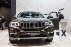 Nuovo BMW X6 xDrive allo IAA 2015 immagini stock libere da diritti