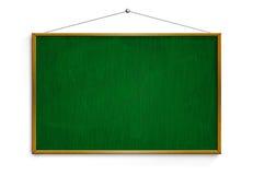 Nuovo bordo di gesso nero con la struttura di legno isolata su backg bianco Fotografia Stock Libera da Diritti