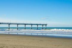 Nuovo Brighton Pier a Christchurch Fotografie Stock
