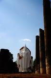Nuovo Buddha in tempio antico Fotografie Stock