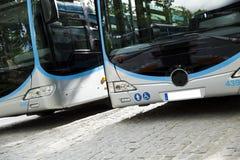 Nuovo bus moderno della città fotografia stock libera da diritti