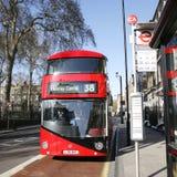 Nuovo bus per Londra Fotografia Stock
