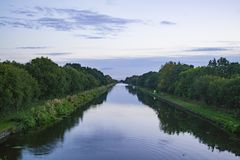 Nuovo canale Regno Unito della giunzione fotografie stock