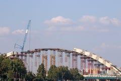 Nuovo cantiere del ponte Fotografia Stock Libera da Diritti