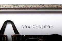 Nuovo capitolo fotografie stock