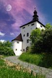 Nuovo castello Fotografia Stock