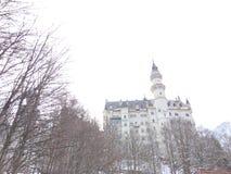 Nuovo castello della pietra del cigno Fotografia Stock Libera da Diritti