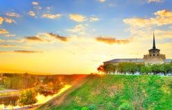 Nuovo castello nel hdr di Grodno Immagine Stock Libera da Diritti