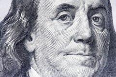 Nuovo cento primi piani della banconota in dollari Immagini Stock Libere da Diritti