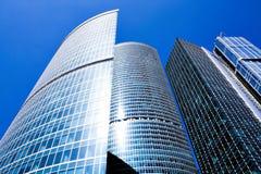 Nuovo centro di affari dei grattacieli Fotografie Stock Libere da Diritti