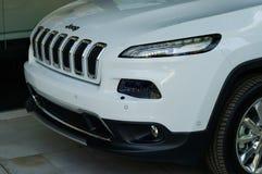 Nuovo Chrysler Jeep Front Detail Fotografia Stock Libera da Diritti