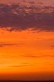 Nuovo cielo di tramonto immagine stock libera da diritti