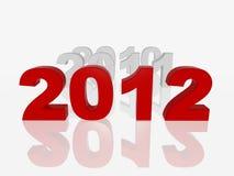Nuovo colore rosso 2012 Fotografia Stock