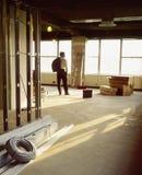 Nuovo commercio in costruzione fotografia stock