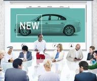 Nuovo concetto del homepage dell'automobile di tecnologia dell'innovazione fotografia stock libera da diritti