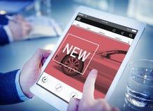 Nuovo concetto del homepage dell'automobile di tecnologia dell'innovazione fotografia stock