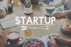 Nuovo concetto di affari di visione del lancio Startup di strategia Immagini Stock