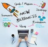 Nuovo concetto di progresso di organizzazione di risultato di affari immagine stock