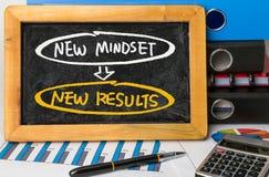 Nuovo concetto di risultati di nuovo mindset Immagine Stock
