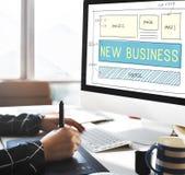 Nuovo concetto di scopi di visione di pianificazione di partenza di affari Immagini Stock