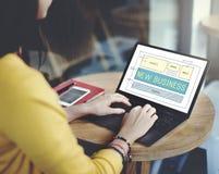 Nuovo concetto di scopi di visione di pianificazione di partenza di affari Immagini Stock Libere da Diritti