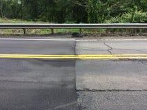Nuovo confine della York-Pensilvania che pavimenta frontiera immagine stock