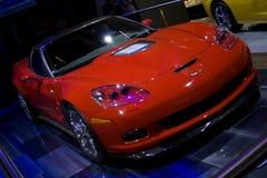 Nuovo corvette rosso zr1 Immagini Stock Libere da Diritti