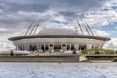 Nuovo ` dell'arena di St Petersburg del ` di calcio sull'isola di Krestovsky a St Petersburg per la coppa del Mondo 2018 fotografie stock