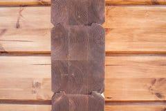 Nuovo dettaglio di legno della casa Fotografia Stock Libera da Diritti