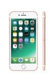 Nuovo di iPhone bianco colorato di rosa 7 Immagini Stock Libere da Diritti